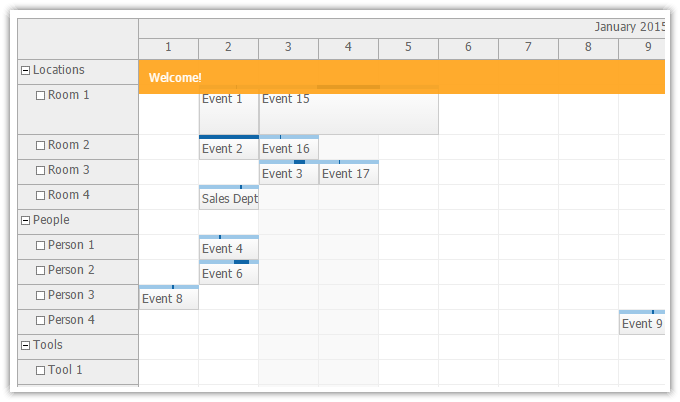 Weekly Calendar Java : Daypilot for java calendar scheduler and gantt chart