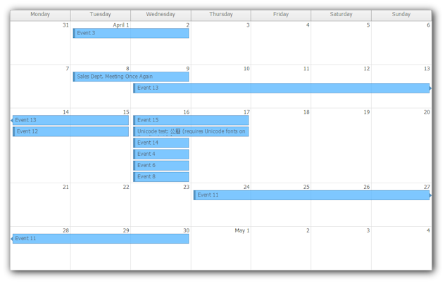 Weekly Calendar Java : Daypilot pro for java calendar